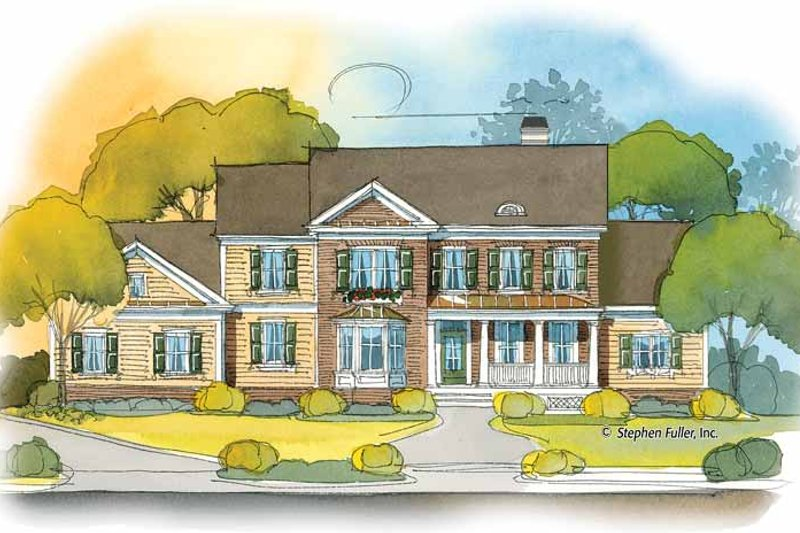Country Exterior - Front Elevation Plan #429-392
