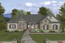 Dream House Plan - Craftsman Exterior - Front Elevation Plan #56-690