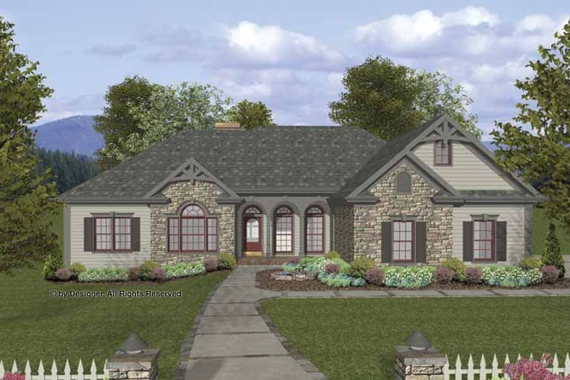 Craftsman Exterior - Front Elevation Plan #56-690
