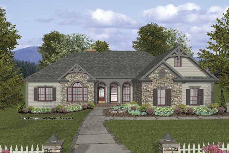 Home Plan - Craftsman Exterior - Front Elevation Plan #56-690