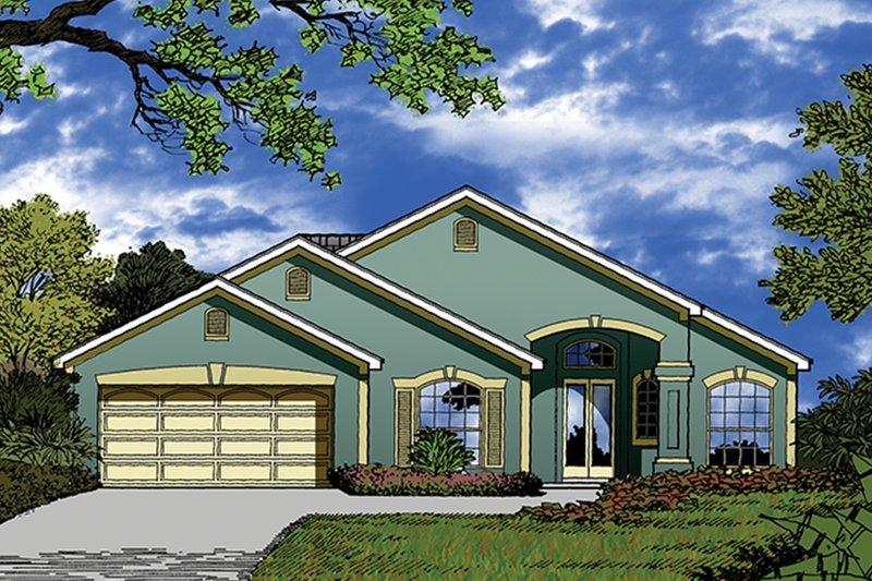 Architectural House Design - Mediterranean Exterior - Front Elevation Plan #417-852