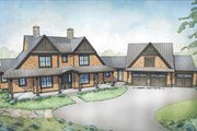 Country Style House Plan - 4 Beds 3.5 Baths 3829 Sq/Ft Plan #928-294 Exterior - Front Elevation