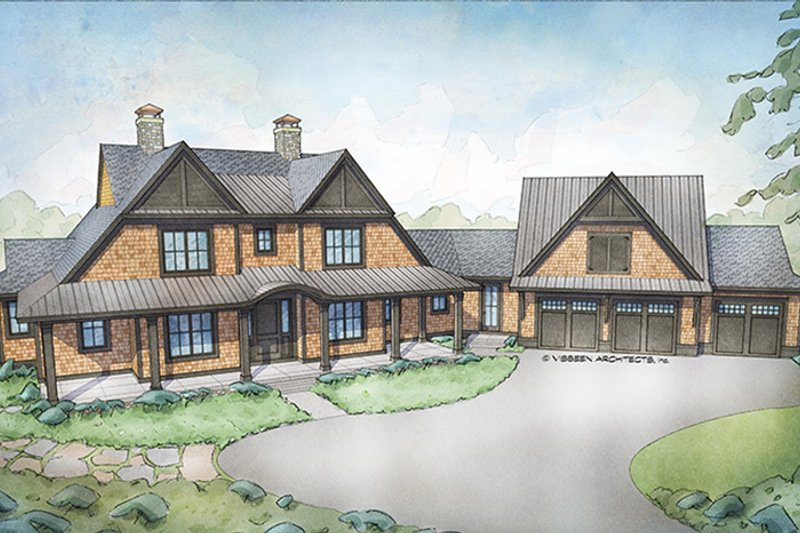 Country Exterior - Front Elevation Plan #928-294
