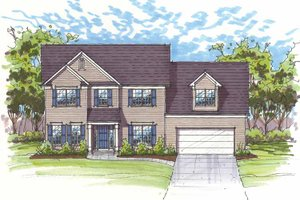 Home Plan - Traditional Exterior - Front Elevation Plan #435-21