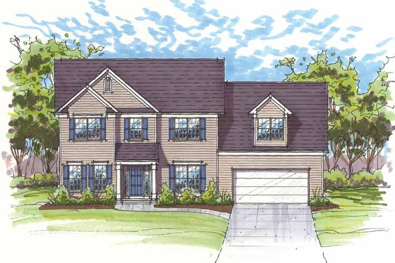 Traditional Exterior - Front Elevation Plan #435-21 - Houseplans.com