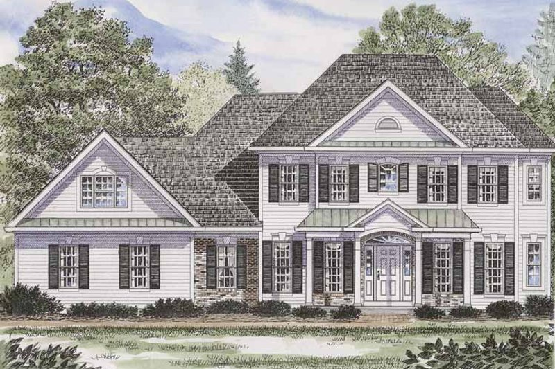 Colonial Exterior - Front Elevation Plan #316-232