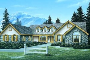 Home Plan - Traditional Exterior - Front Elevation Plan #57-173