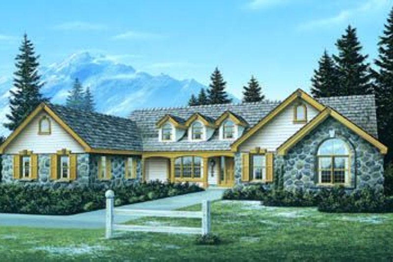 Dream House Plan - Traditional Exterior - Front Elevation Plan #57-173