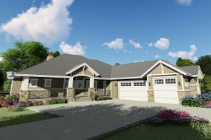 Craftsman Exterior - Front Elevation Plan #1069-14