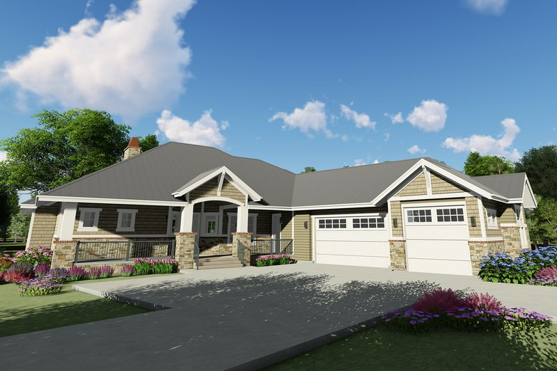 House Plan Design - Craftsman Exterior - Front Elevation Plan #1069-14