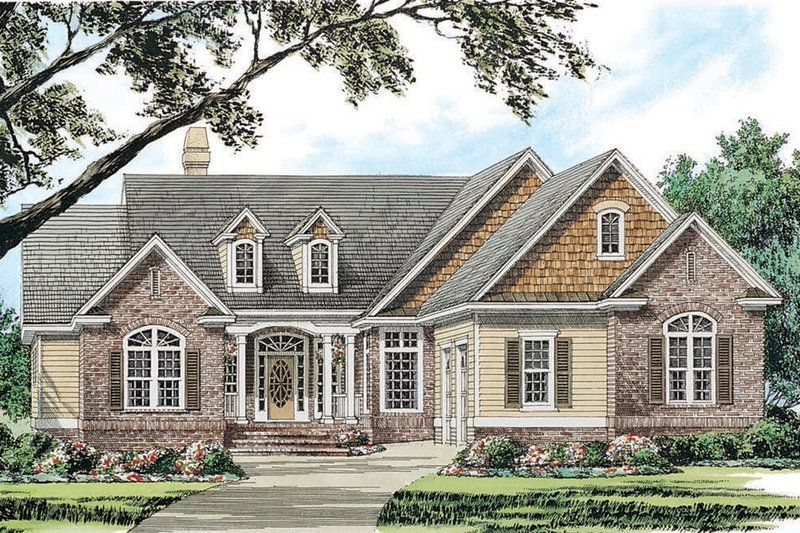 Traditional Exterior - Front Elevation Plan #929-40 - Houseplans.com