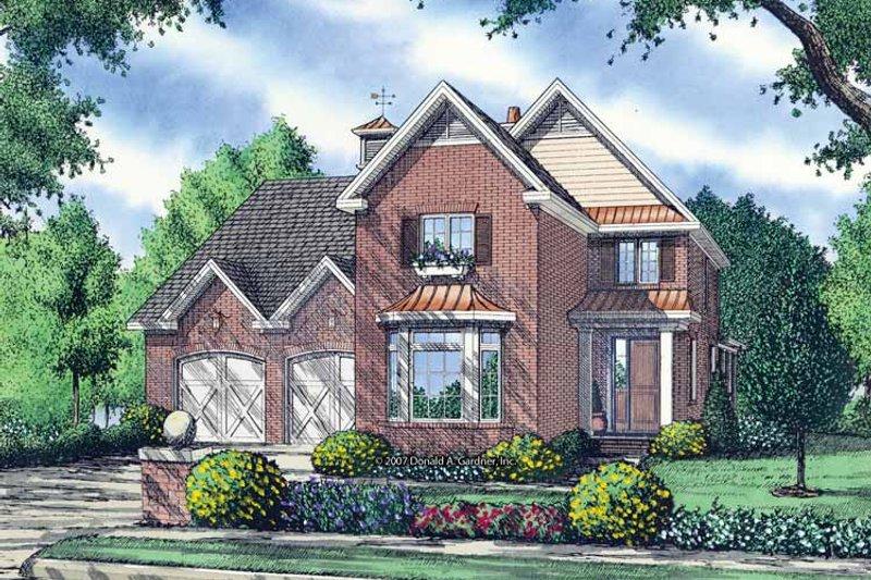 Contemporary Exterior - Front Elevation Plan #929-845 - Houseplans.com