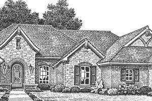Dream House Plan - European Exterior - Front Elevation Plan #310-1257