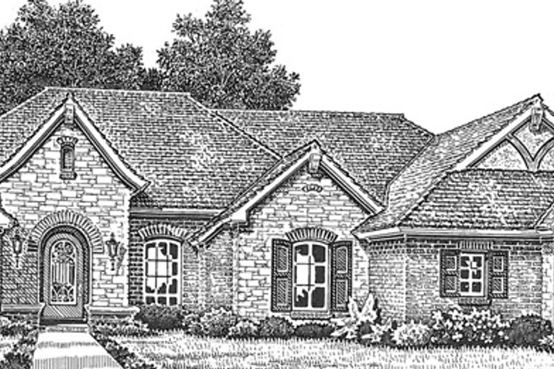 House Plan Design - European Exterior - Front Elevation Plan #310-1257