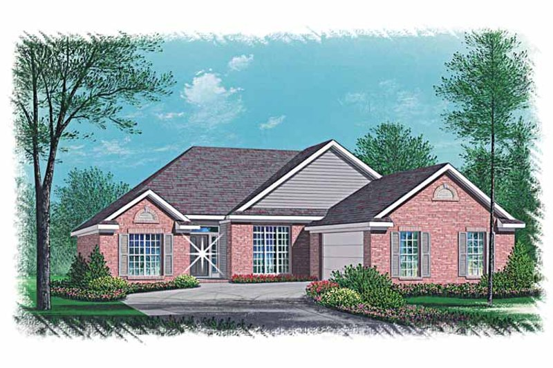 Ranch Exterior - Front Elevation Plan #15-349