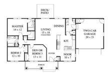 Country Floor Plan - Main Floor Plan Plan #1053-19