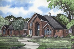 European Exterior - Front Elevation Plan #17-256