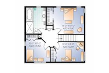 Country Floor Plan - Upper Floor Plan Plan #23-2555