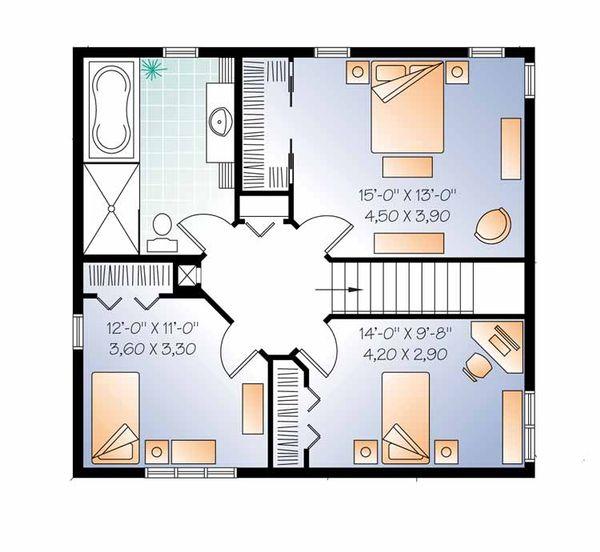 Home Plan - Country Floor Plan - Upper Floor Plan #23-2555