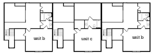 Traditional Floor Plan - Upper Floor Plan Plan #45-452