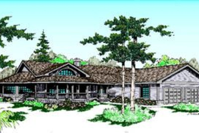 Architectural House Design - Country Exterior - Front Elevation Plan #60-204