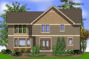 Traditional Style House Plan - 4 Beds 2.5 Baths 2453 Sq/Ft Plan #48-403 Exterior - Rear Elevation