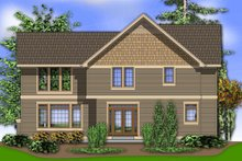 Dream House Plan - Rear View - 2450 square foot Craftsman Home