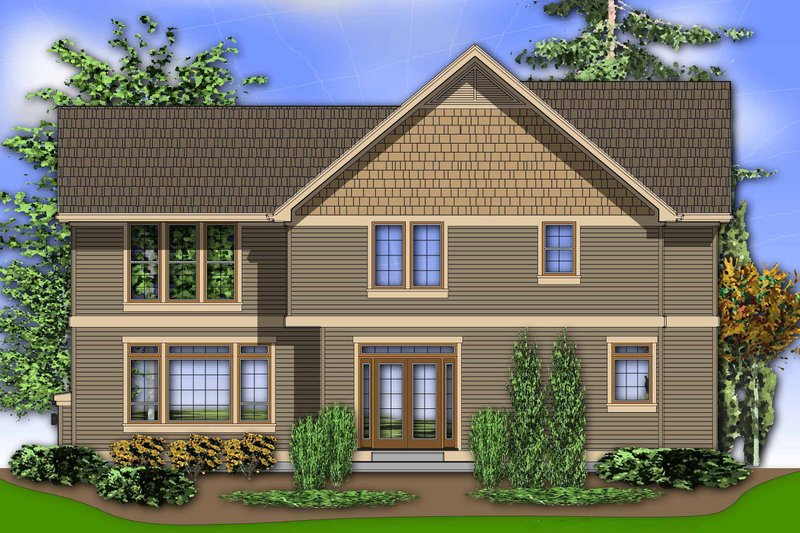 Rear View - 2450 square foot Craftsman Home