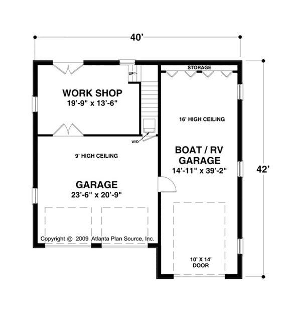 Craftsman Floor Plan - Main Floor Plan Plan #56-611