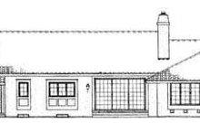 Home Plan - Mediterranean Exterior - Rear Elevation Plan #72-121