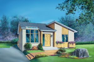 Contemporary Exterior - Front Elevation Plan #25-1182