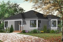 Cottage Exterior - Front Elevation Plan #23-166