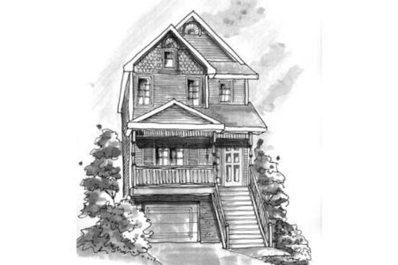 Craftsman Exterior - Front Elevation Plan #20-410