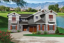 Home Plan - Traditional Exterior - Front Elevation Plan #70-1108