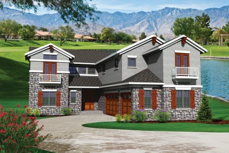 Traditional Exterior - Front Elevation Plan #70-1108 - Houseplans.com