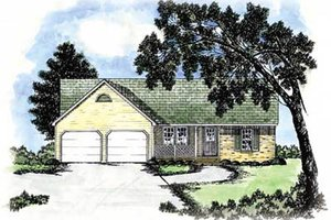 House Plan Design - Ranch Exterior - Front Elevation Plan #36-120