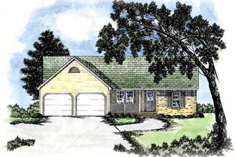 Ranch Exterior - Front Elevation Plan #36-120