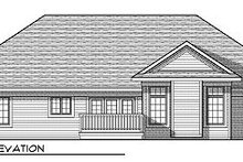 Mediterranean Exterior - Rear Elevation Plan #70-869