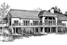 House Blueprint - Modern Exterior - Rear Elevation Plan #72-192