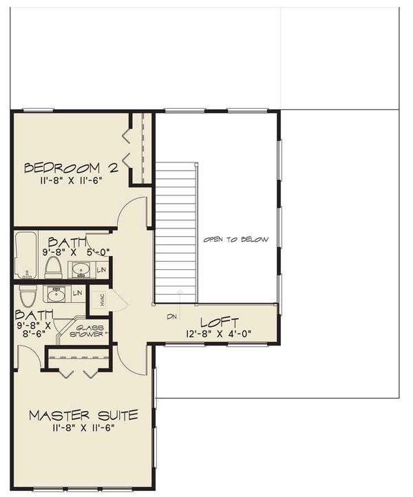 House Plan Design - Contemporary Floor Plan - Upper Floor Plan #17-2600