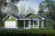 Traditional Style House Plan - 3 Beds 2 Baths 1018 Sq/Ft Plan #95-114 Exterior - Front Elevation