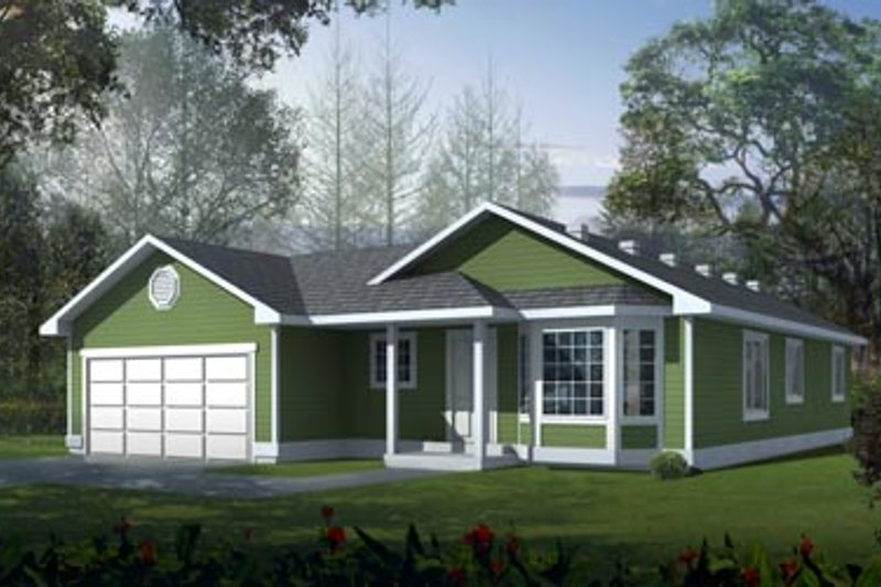 Home Plan - Traditional Exterior - Front Elevation Plan #95-114