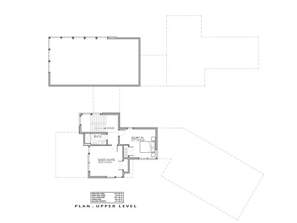 Modern Floor Plan - Upper Floor Plan Plan #892-32