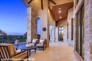 European Style House Plan - 4 Beds 5.5 Baths 6594 Sq/Ft Plan #930-516 Exterior - Covered Porch