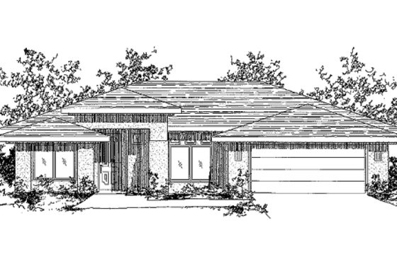 Mediterranean Exterior - Front Elevation Plan #24-184