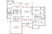 Traditional Style House Plan - 4 Beds 2.5 Baths 2802 Sq/Ft Plan #63-168 Floor Plan - Main Floor Plan