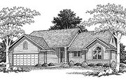 Traditional Style House Plan - 2 Beds 1.5 Baths 1346 Sq/Ft Plan #70-115 Exterior - Front Elevation
