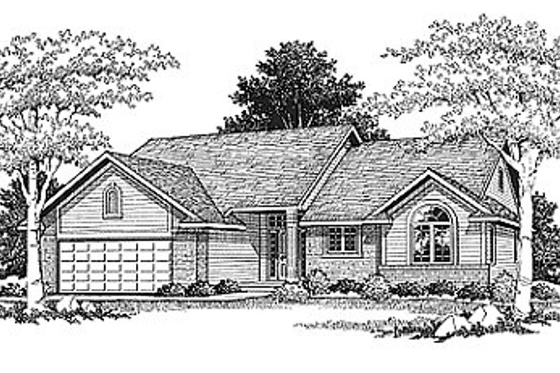 Traditional Exterior - Front Elevation Plan #70-115 - Houseplans.com