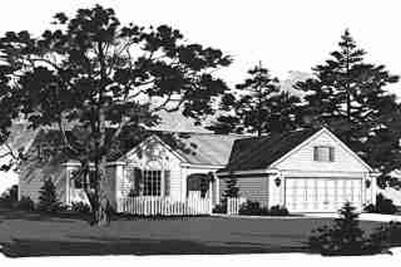 House Blueprint - Ranch Exterior - Front Elevation Plan #72-303