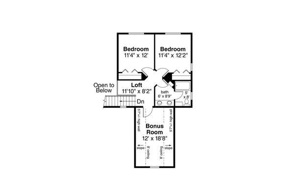 Traditional Floor Plan - Upper Floor Plan Plan #124-1126